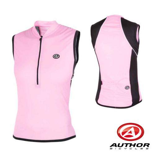 Футболка велосипедная, женская, безрукавка, ASL-B-5E Размер XL, розовая/черная