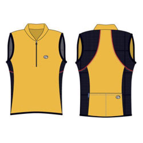Футболка велосипедная, женская, безрукавка, ASL-B-5G Размер XL, желтая/черная
