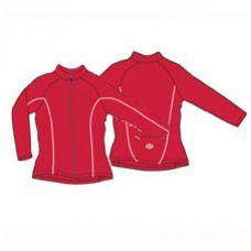 Футболка велосипедная, женская, c длинным рукавом ASL-D-5B Размер XL, красная