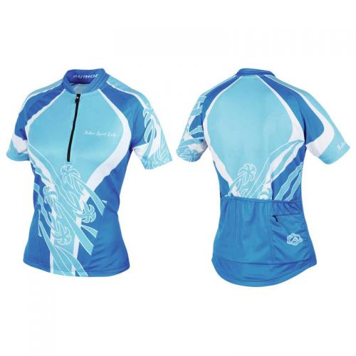 Футболка велосипедная, женская,  ASL-R-6A Размер L, голубая