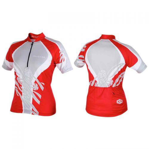 Футболка велосипедная, женская,  ASL-R-6C Размер L, красно/серая
