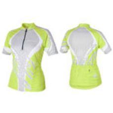 Футболка велосипедная, женская,  ASL-R-6D Размер L, зелено/серая