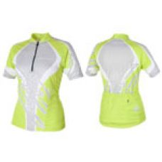 Футболка велосипедная, женская,  ASL-R-6D Размер XL, зелено/серая