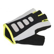 Перчатки Men ARP размер M, черно белые с неоново желтыми вставками