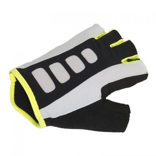 Перчатки Men ARP размер L, черно белые с неоново желтыми вставками