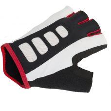 Перчатки Men ARP размер M, черно белые с красными вставками