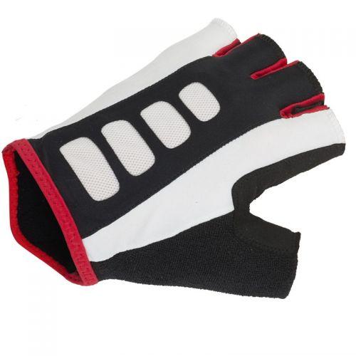Перчатки Men ARP размер L, черно белые с красными вставками