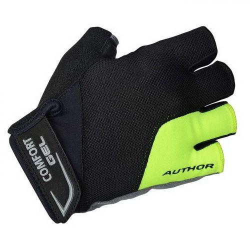 Перчатки Author Men Comfort Gel X6 s/f, размер  M, черно-неоново желтые
