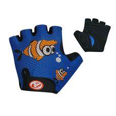 Перчатки Junior Fish размер S,сине/черные с рыбкой