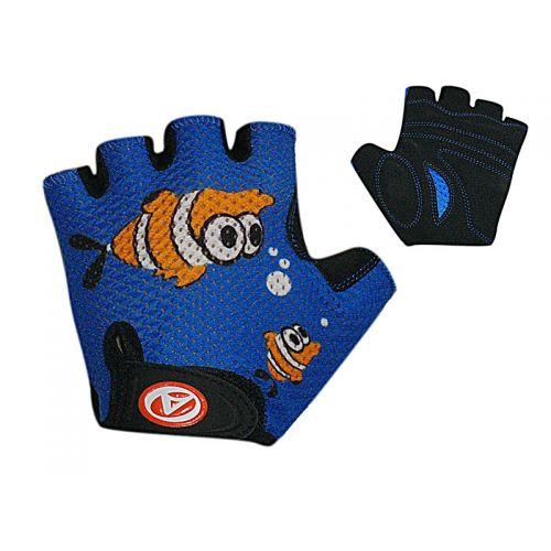 Перчатки Junior Fish, размер M,сине/черные с рыбкой