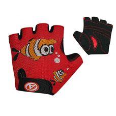 Перчатки Junior Fish, размер M, красно/черные с рыбкой