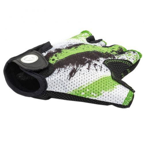 Перчатки Author Junior X6, размер  S, зелёно черно белые