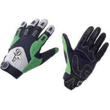 Перчатки A Gang, размер S, закрытые пальцы, салатово/бело/черные