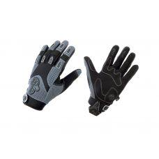 Перчатки A Gang, размер S, закрытые пальцы, серо/черные