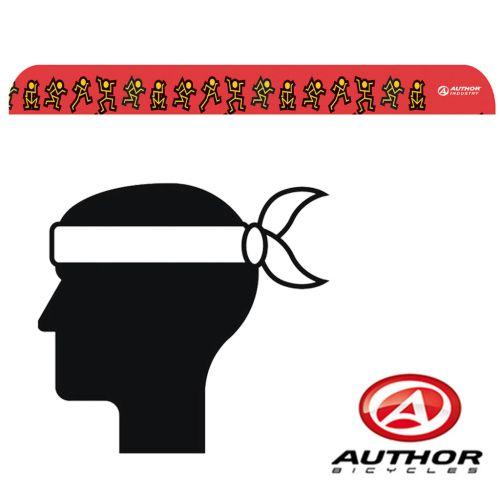 Повязка на голову Author d42 красно /желто /черная