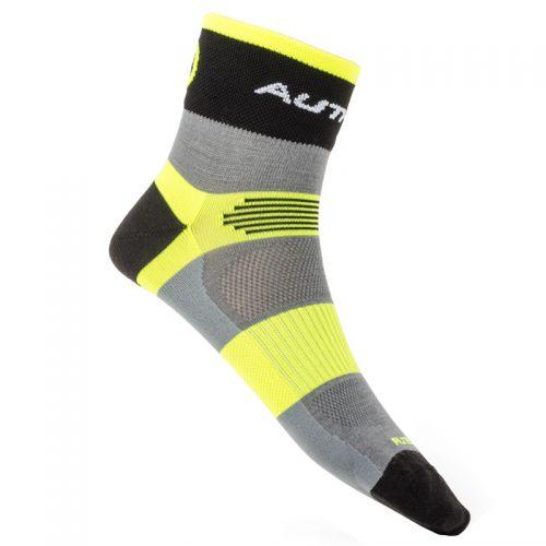 Носки Author XC, размер M 39-42,  цвет: неоново желтый/серыый/черный