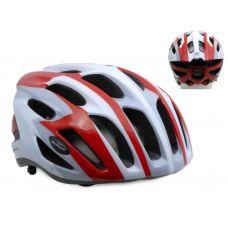 Шлем Streem 081 красный/белый/серый,  размер 52-57 cm, вес 259 гр.