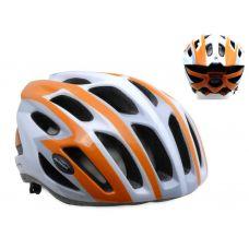 Шлем Streem 082 оранжевый/белый/серый,  размер 52-57 cm, вес 259 гр.