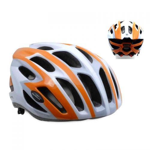 Шлем Streem 082 оранжевый/белый/серый,  размер 58-62 cm, вес 259 гр.