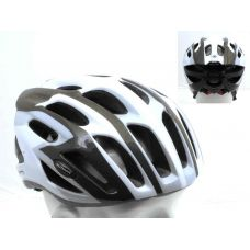 Шлем Streem 085 черный/белый/серый,  размер 52-57 cm, вес 259 гр.
