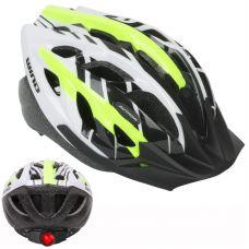 Шлем Wind LED 144 неоново-желтый/белый, размер 58-62 cm