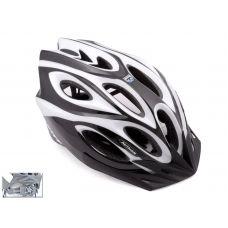 Шлем Skiff 115 черный/белый,  размер 52-58 cm, вес 271 гр.