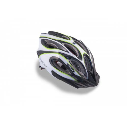 Шлем Skiff 141 черный/белый/зеленый,  размер 58-62 cm, вес 271 гр.