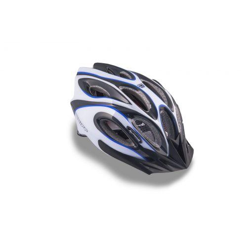 Шлем Author Skiff Inmold, размер 52-58 см, черный/белый/синий
