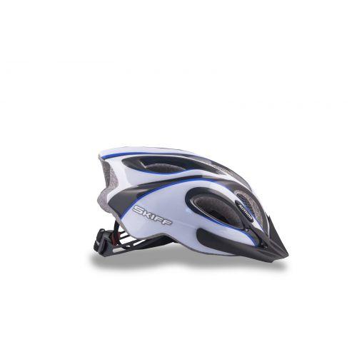 Шлем Skiff 143 черный/белый/синий,  размер 58-62 cm, вес 271 гр.
