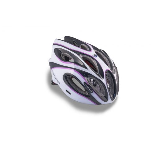 Шлем Skiff 144 черный/белый/пурпурный,  размер 52-58 cm, вес 271 гр.