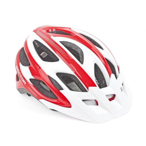 Шлем Sector Inmold 121 красно/белый, размер 54-58 cm, вес 236 гр.