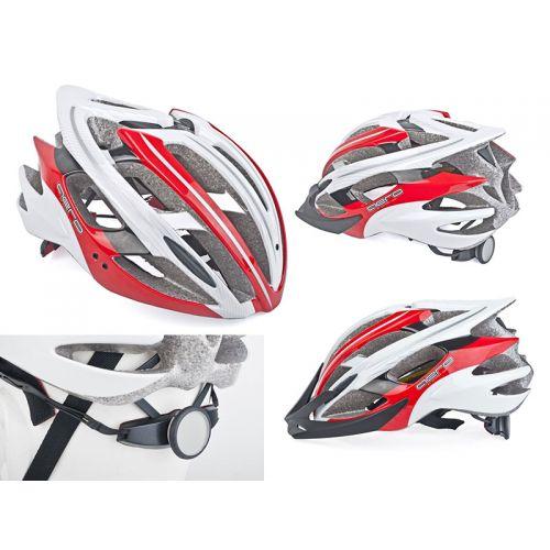 Шлем Aero Inmold, размер  52-58cm, цвет (121 красно/белый)
