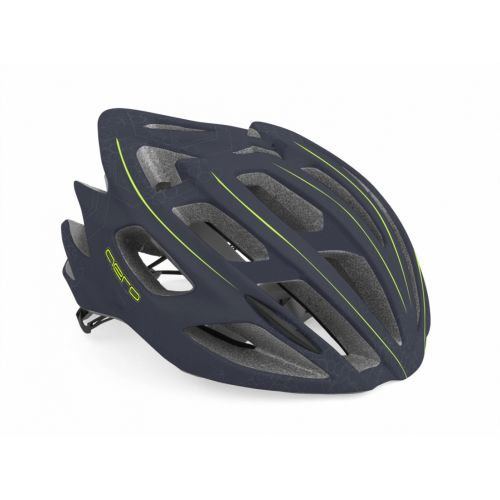 Шлем Author Aero X8, размер 52-58 см, цвет: темно серый/неоново желтый