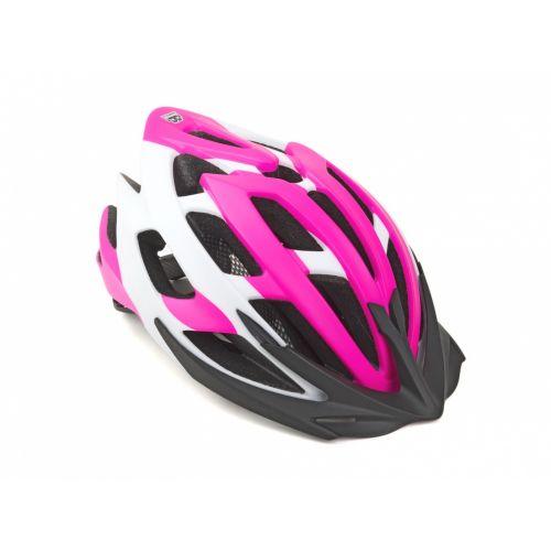 Шлем Author Aero X8, размер 52-58 см, цвет: неоново розовый/белый, матовый