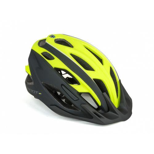 Шлем Author Root Inmold, размер 53-59 см, цвет: черно/неоново желтый