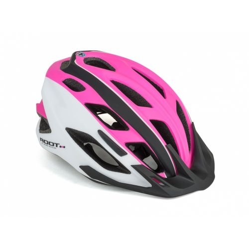 Шлем Author Root Inmold, размер 53-59 см, цвет: бело/розово/черный