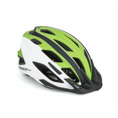 Шлем Author Root Inmold, размер 53-59 см, цвет: черно/белый/зеленый