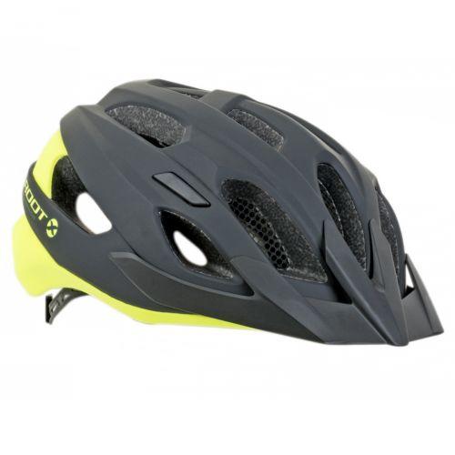 Шлем Author Root Inmold X0, размер 57-62 см, цвет: черно/неоново желтый матовый