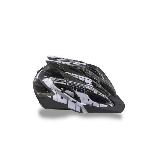 Шлем Saber 142 черный/белый/серебристый,  размер 58-62 cm, вес  гр.