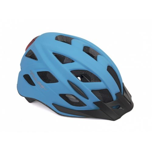 Шлем Author Pulse LED X8, размер 58-61 см, цвет: неоново синий