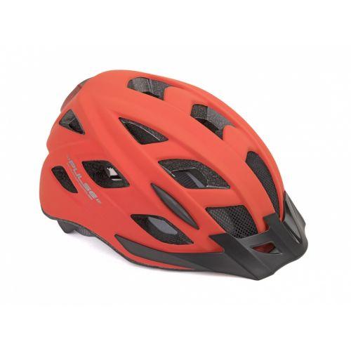 Шлем Author Pulse LED X8, размер 58-61 см, цвет: неоново красный