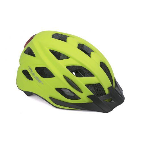 Шлем Author Pulse LED X8, размер 52-58 см, цвет: неоново желтый