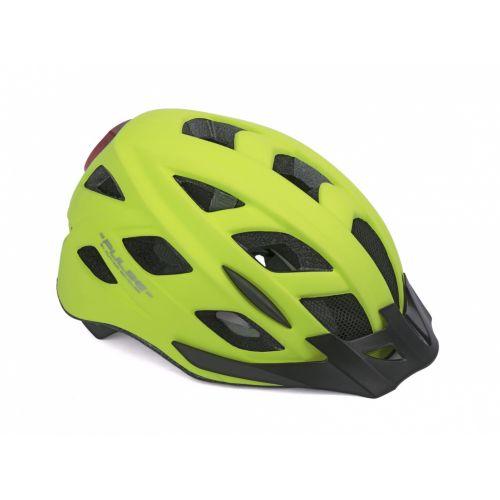 Шлем Author Pulse LED X8, размер 58-61 см, цвет: неоново желтый