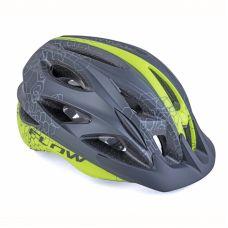 Шлем Author Flow Inmold X9, размер 54-58 cm, цвет: черный/ неоново желтый