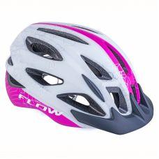 Шлем Author Flow Inmold X9, размер 58-61 cm, цвет: белый/ неоново розовий