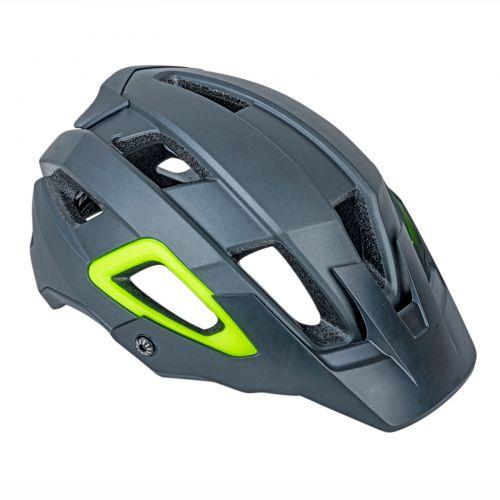 Шлем Author Trail Inmold X9, размер 54-58 см, цвет: серый / неоново желтый