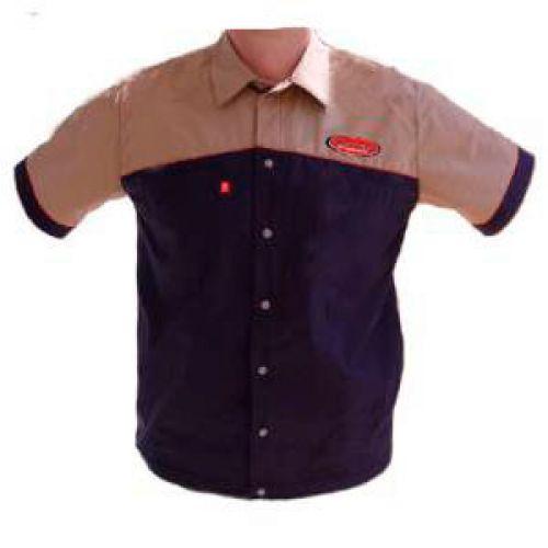 Рубашка Author с коротким рукавом,размер XL, цвет сине/бежевый