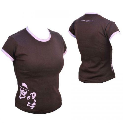 Футболка  Author Gang Lady, размер M, цвет коричьневый