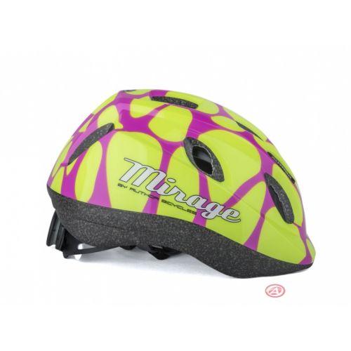 Шлем Author Mirage Inmold, размер 48-54 см, цвет: розово/желтый
