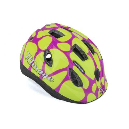 Шлем Author Mirage Inmold, размер 52-56 см, цвет: розово/желтый